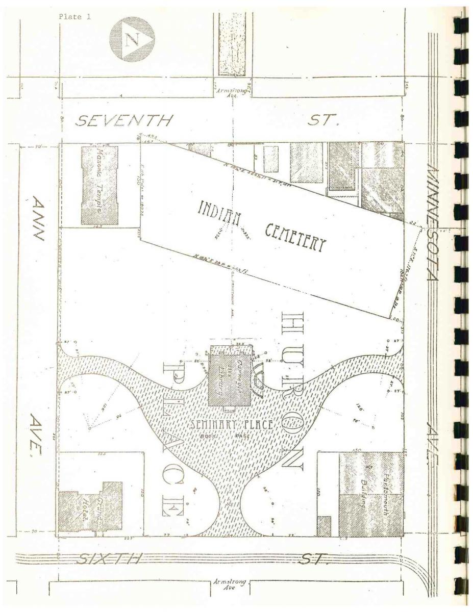 Connelley's Report on Huron Place, 1897