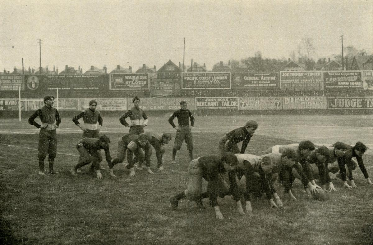 1904 Manual High School Football Team Showing T Formation