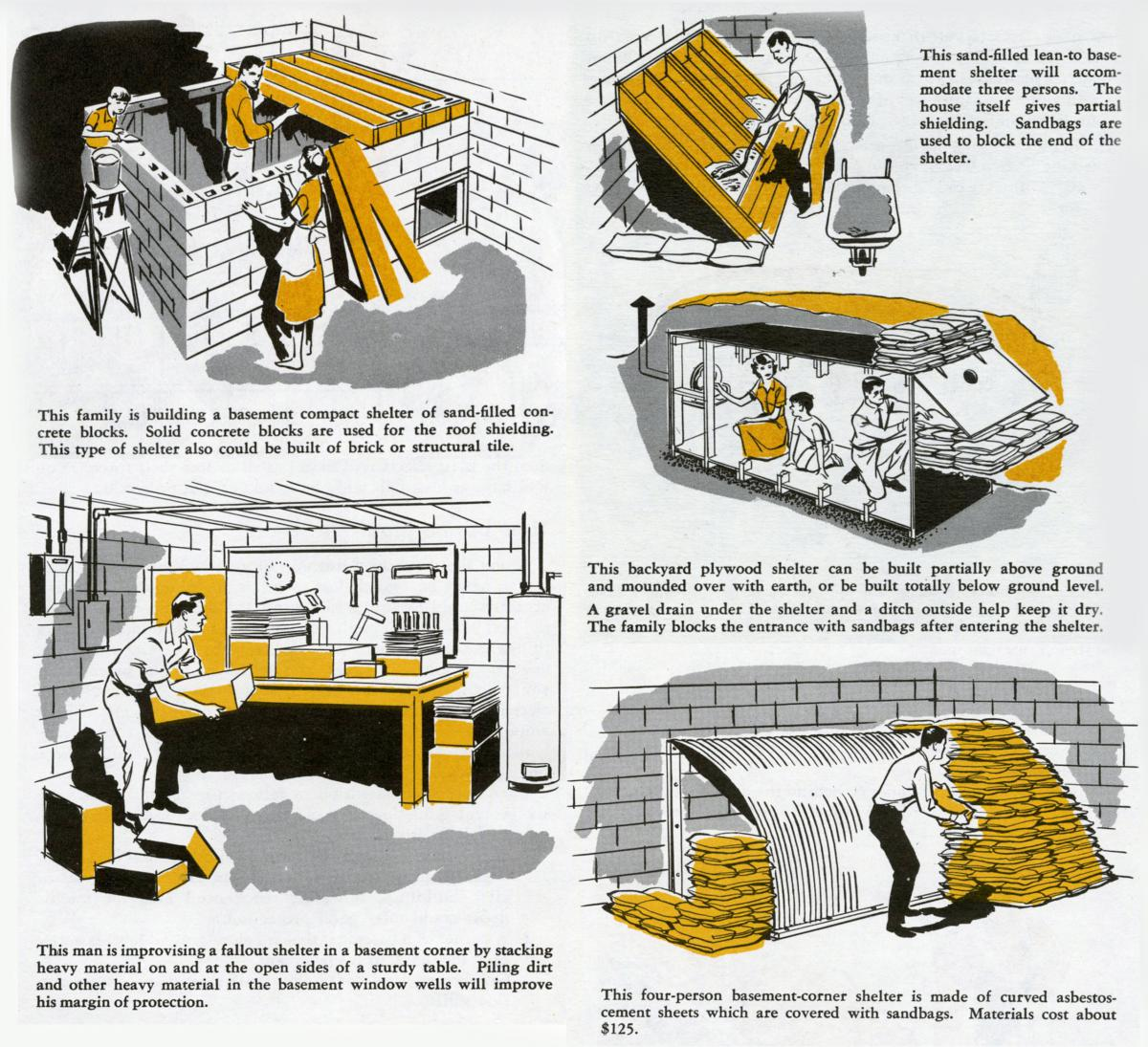 Fallout shelter ideas from the Office of Civil Defense