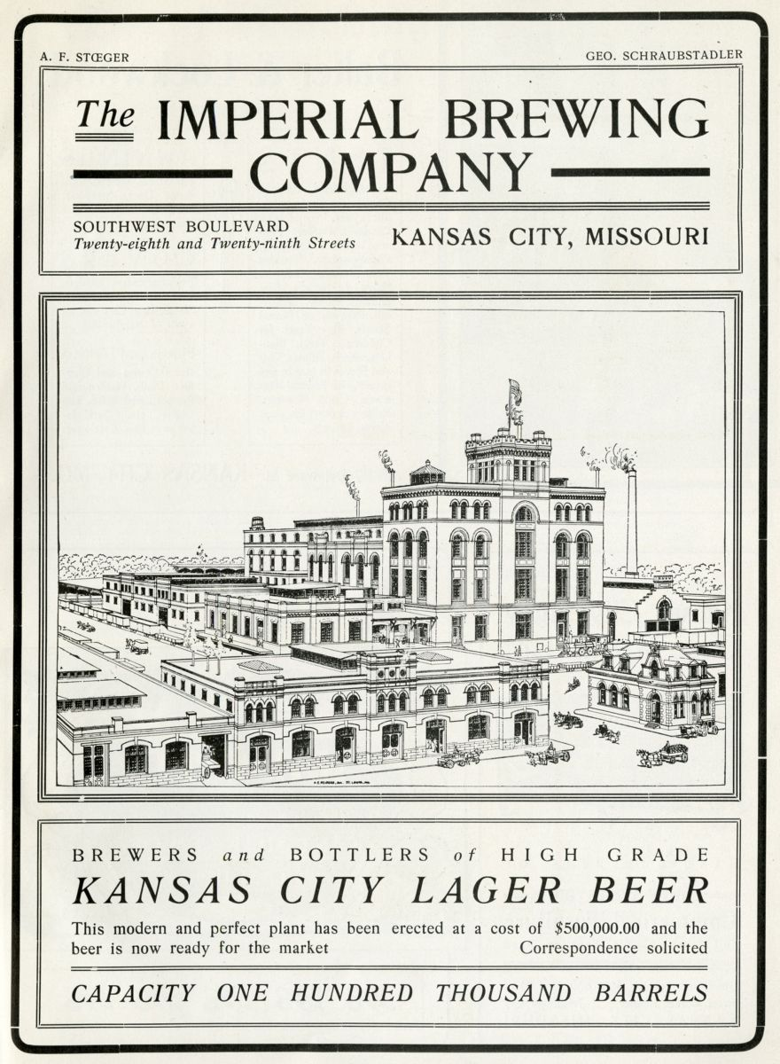 Imperial Brewing Company Advertisement, Kansas City Illustrated, 1902