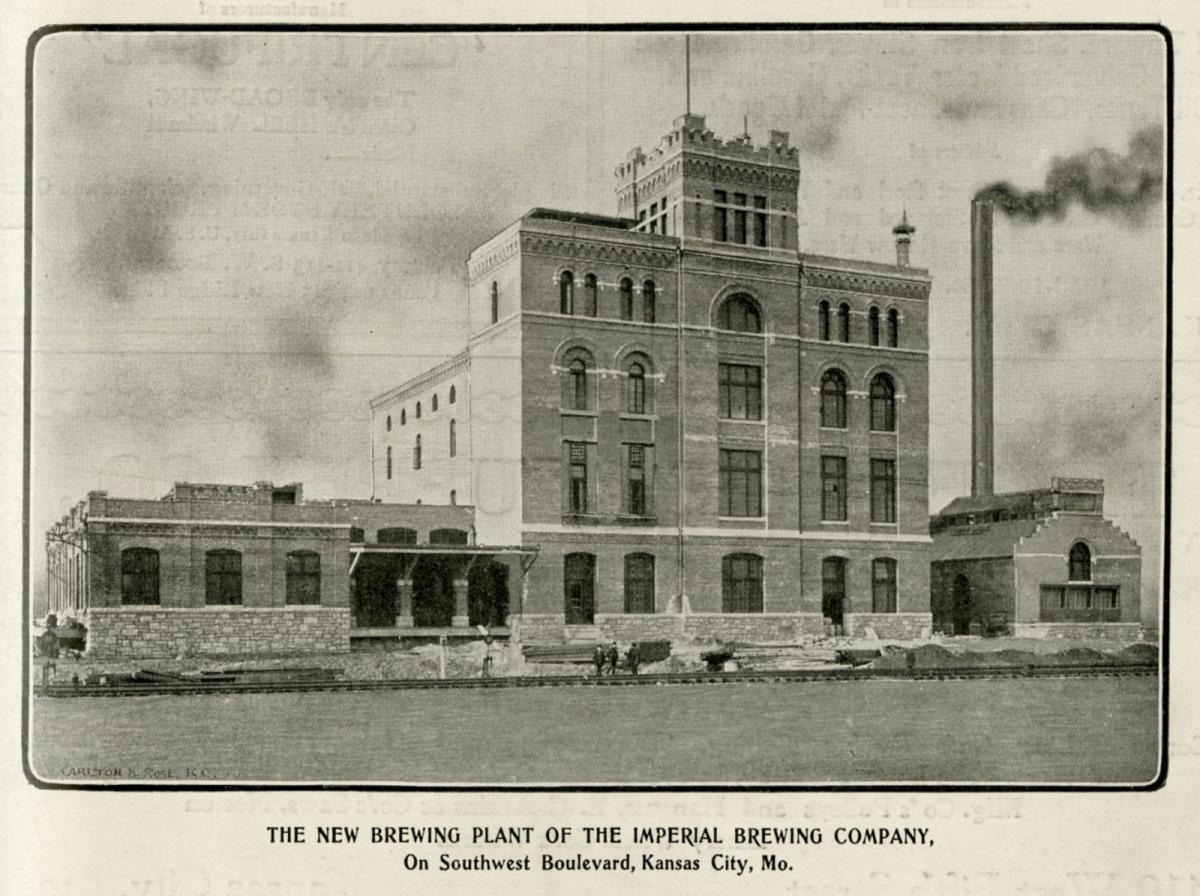 Imperial Brewing Company Photograph, Kansas City Manufacturer, February 1902