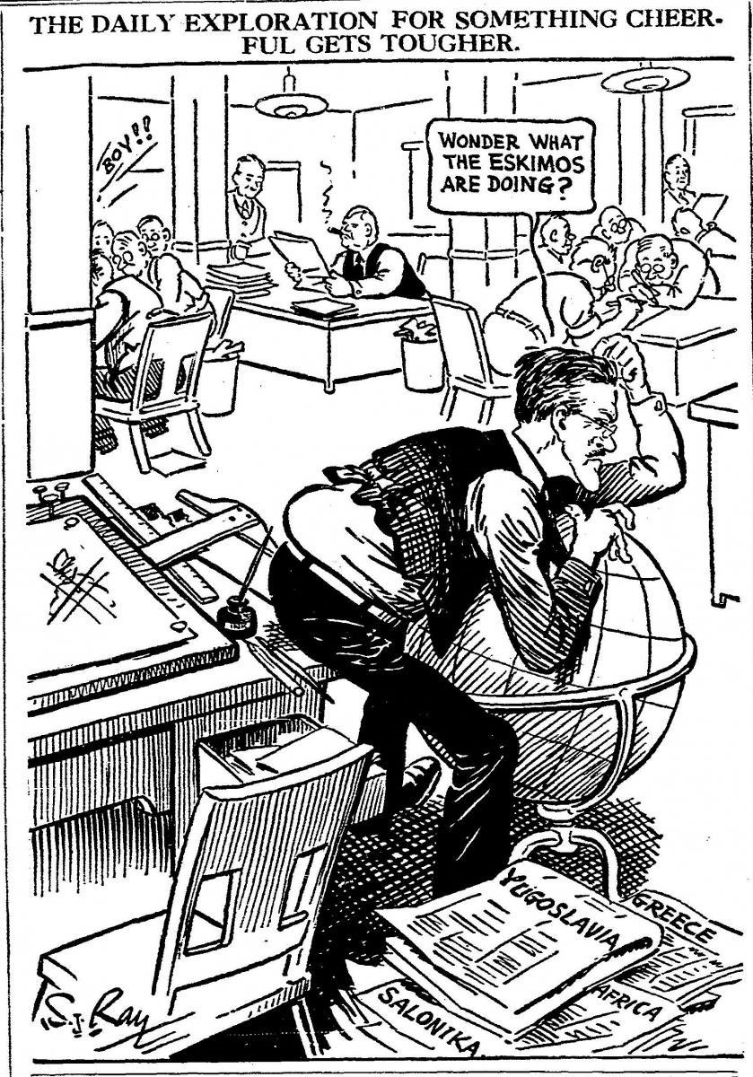 History in Cartoons: The Artwork of S  J  Ray | KC History