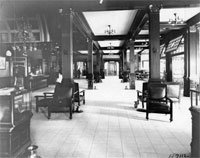 Interior view of lobby, 1910
