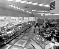 Interior view of the Katz store located at the intersection of Linwood and Troost