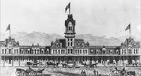 Drawing of Union Depot, 1880