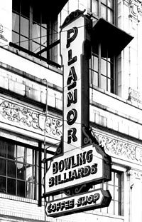 Pla-Mor entertainment center sign